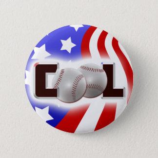 USA Cool Baseball Shine 6 Cm Round Badge