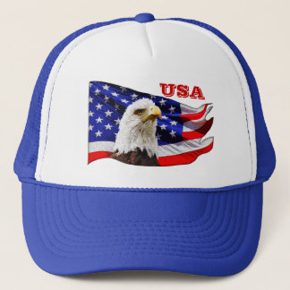 USA Cool Eagle and American Flag Snapback Hat