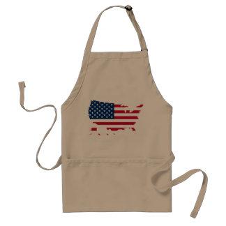 Usa country flag standard apron