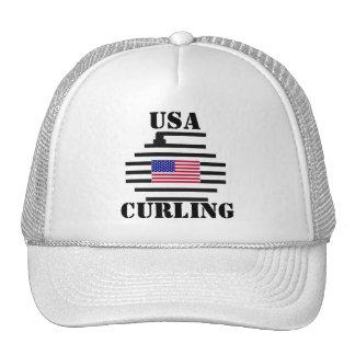 USA CURLING CAP