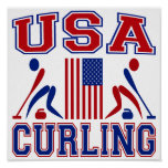 USA Curling Posters