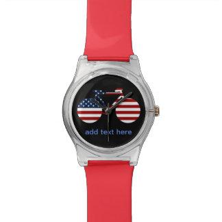 USA cycling personalized text Wrist Watch