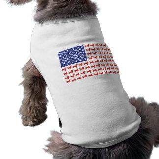 USA Dachshund Sleeveless Dog Shirt