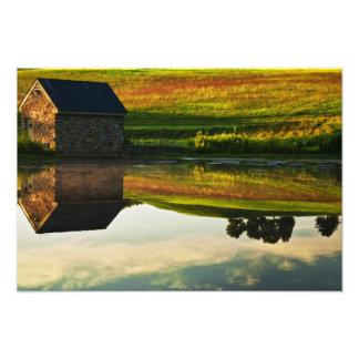 USA, Delaware, Wilmington. Stone barn on edge Photo Art