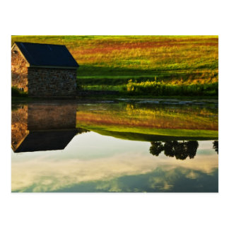 USA, Delaware, Wilmington. Stone barn on edge Postcard