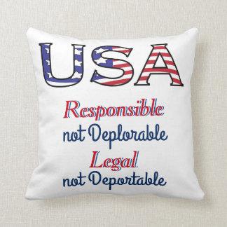 USA Deplorable Message Throw Pillow