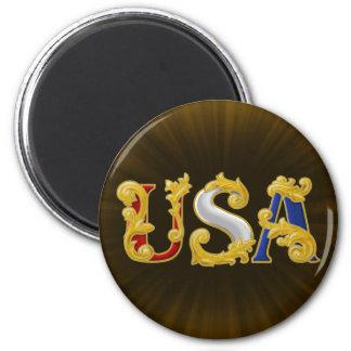 USA Design 6 Cm Round Magnet