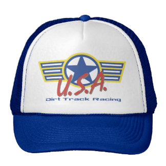 USA Dirt Track Racing Mesh Hat