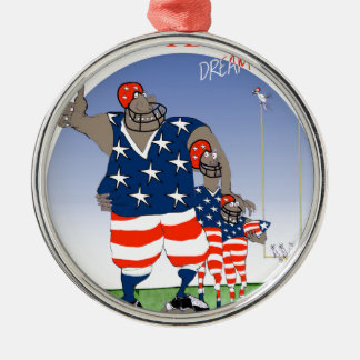 USA dream team, tony fernandes Silver-Colored Round Decoration