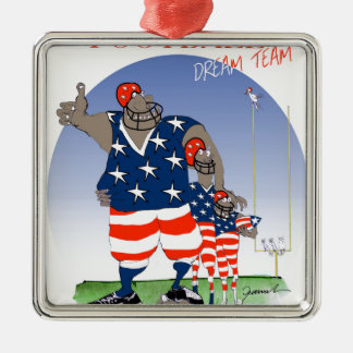 USA dream team, tony fernandes Silver-Colored Square Decoration