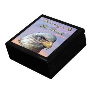USA Eagle Bird Flag Veterans Gift Box