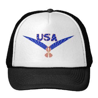 USA EAGLE - PATRIOTIC FLAG SYMBOL TRUCKER HATS