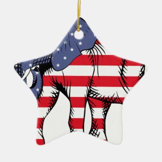 USA Election Elephant  2016 Christmas Ornament