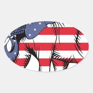 USA Election Elephant  2016 Oval Sticker