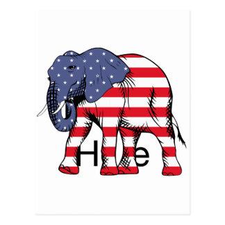 USA Election Elephant  2016 Postcard