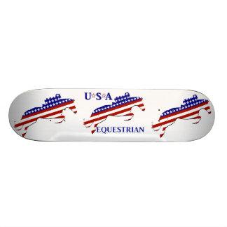 USA Equestrian 21.6 Cm Skateboard Deck