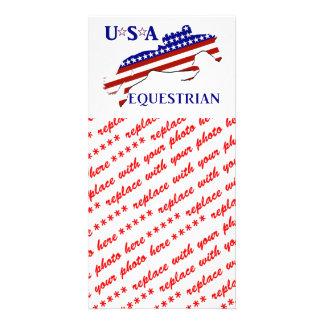 USA Equestrian Custom Photo Card