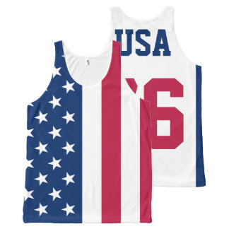 USA Est. 1776 American Flag All-Over Print Tank Top
