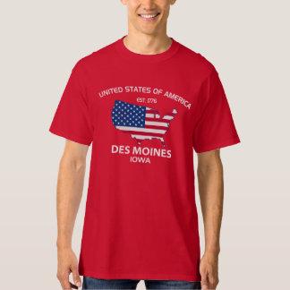USA EST. 1776 DES MOINES IOWA TEE
