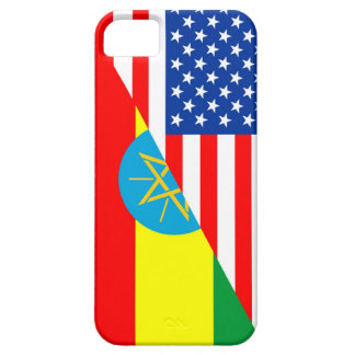 usa ethiopia country half flag america symbol case for the iPhone 5