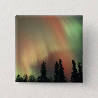 USA, Fairbanks area, Central Alaska, Aurora 3 15 Cm Square Badge