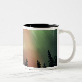 USA, Fairbanks area, Central Alaska, Aurora 3 Two-Tone Coffee Mug