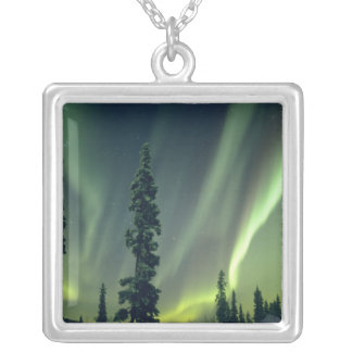 USA, Fairbanks area, Central Alaska, Aurora Silver Plated Necklace