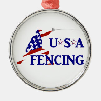 USA Fencing Christmas Ornament
