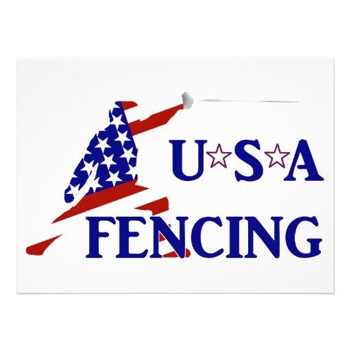 USA Fencing Custom Invitations