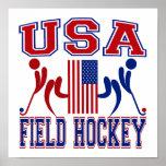 USA Field Hockey Poster