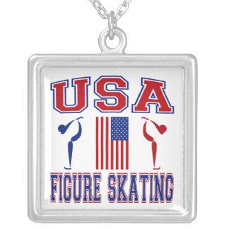 USA Figure Skating Necklace