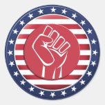 USA Fist Round Sticker