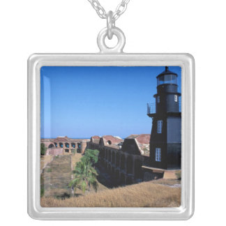 USA, FL, Florida Keys, Fort Jefferson, 1846, 2 Silver Plated Necklace