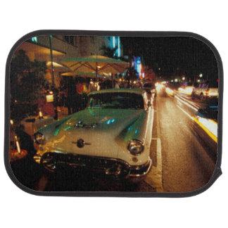 USA, FL, Miami, South Beach at night. 2 Car Mat