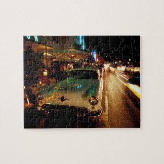 USA, FL, Miami, South Beach at night. 2 Jigsaw Puzzle