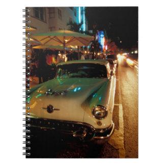 USA, FL, Miami, South Beach at night. 2 Notebook