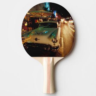 USA, FL, Miami, South Beach at night. 2 Ping Pong Paddle