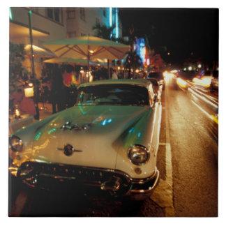USA, FL, Miami, South Beach at night. 2 Tile
