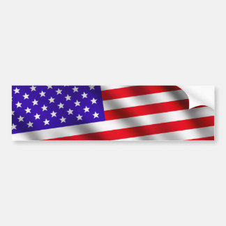 USA flag 3 Bumper Sticker
