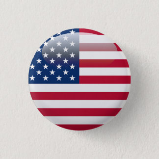 USA Flag 3 Cm Round Badge