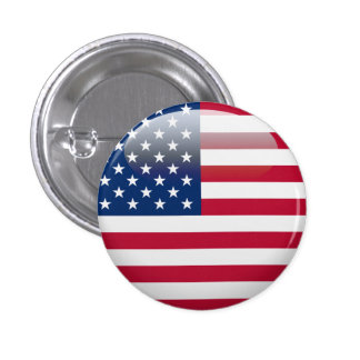 USA Flag 3 Cm Round Badge