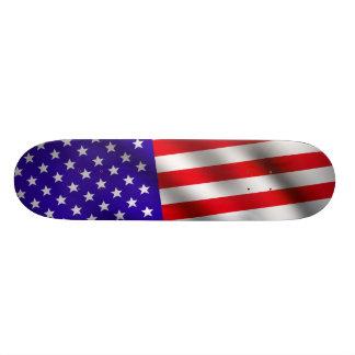 USA flag 3 Skate Deck