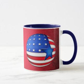 USA flag 3d globe