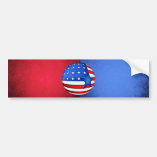 USA flag 3d globe Bumper Sticker