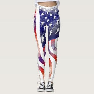 USA Flag 4th of july Leggings