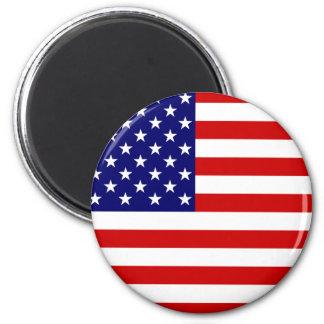 USA FLAG! 6 CM ROUND MAGNET