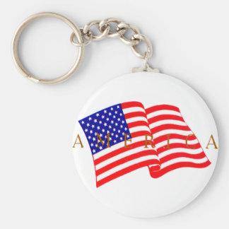 USA Flag -  America Keychains