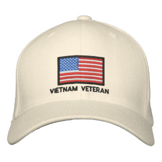 USA Flag - America - Vietnam Veteran Embroidered Hats