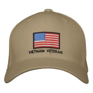 USA Flag - America - Vietnam Veteran Embroidered Hats