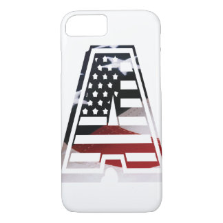 USA Flag American Initial Monogram A iPhone 7 Case